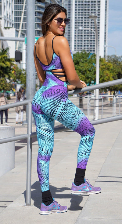 Brazilian Workout Jumpsuit - Emana Yoga Zen Printed One Piece