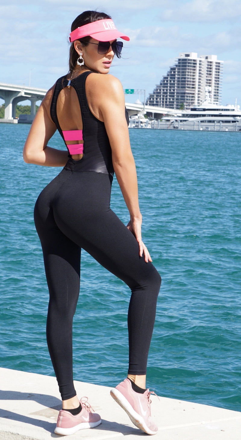 Brazilian Workout Jumpsuit - Fitness NZ Success Black