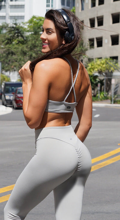 Brazilian Sports Bra - Must Have Straps Grey