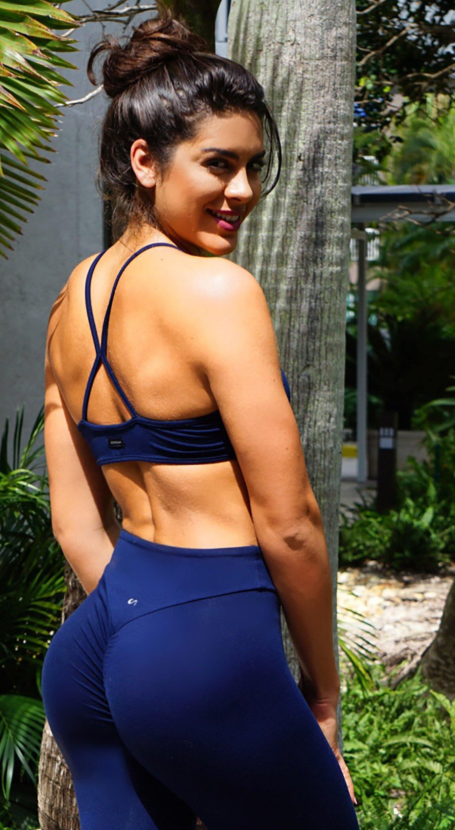Brazilian Sports Bra - Must Have Straps Navy
