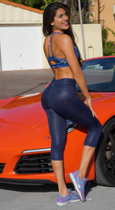 Capri Legging - Scrunch Booty Lift! Shiny Navy