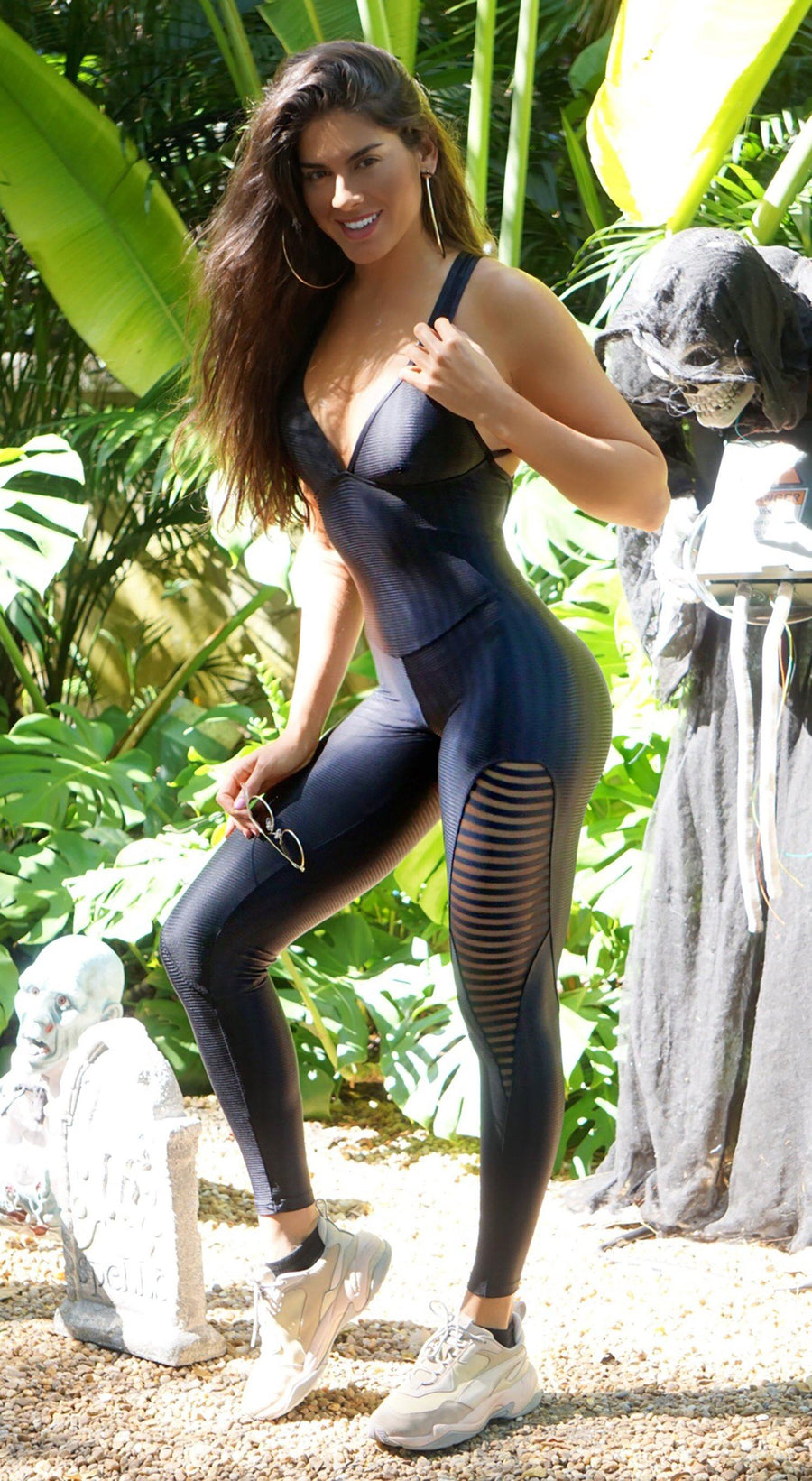 Brazilian Workout Jumpsuit - Lotus One piece Black