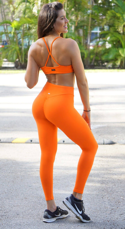 Brazilian Sports Bra - Must Have Straps Orange