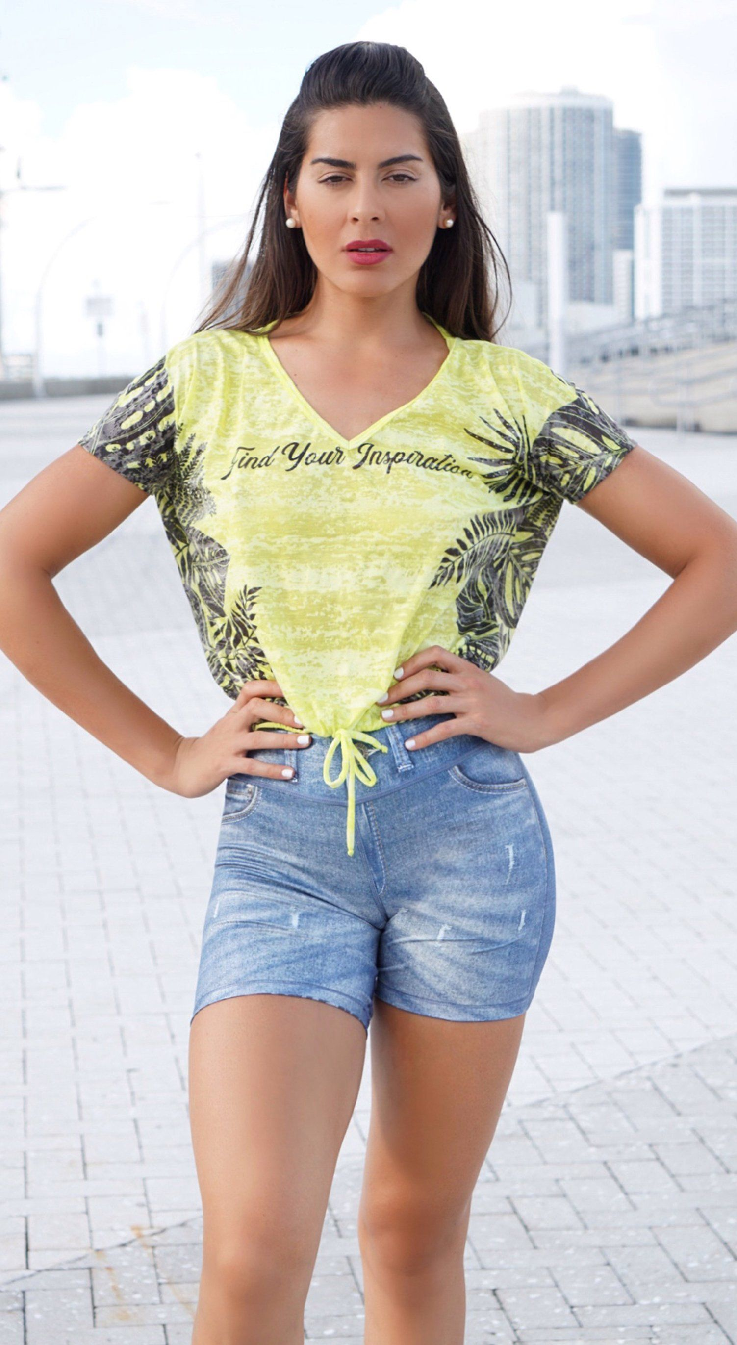 Workout T- Shirt - Inspiration Neon Yellow