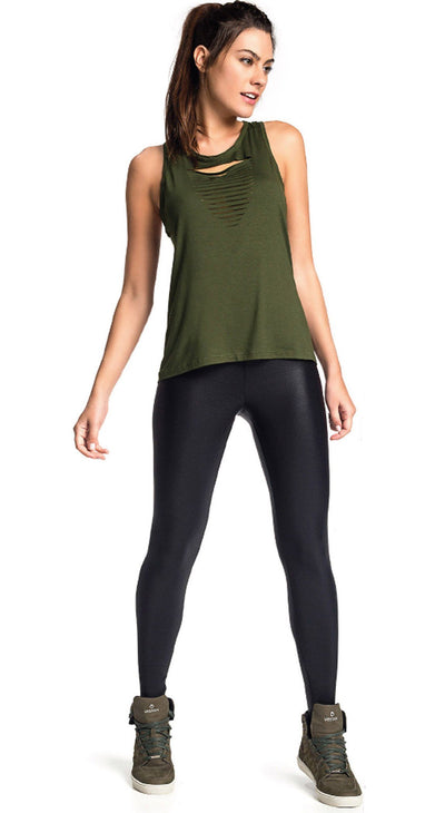 Tank Top - Laser Yoga Green