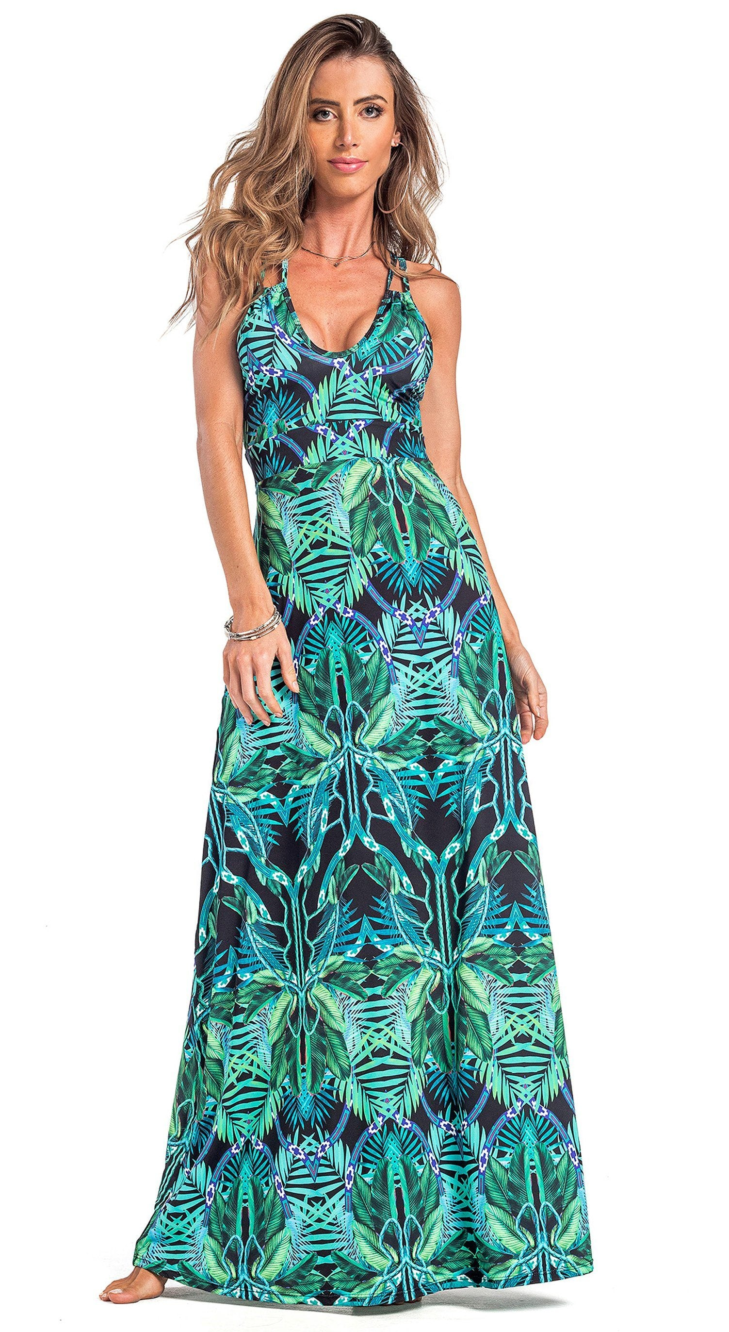 Brazilian Dress Cover Up - Exotic Print