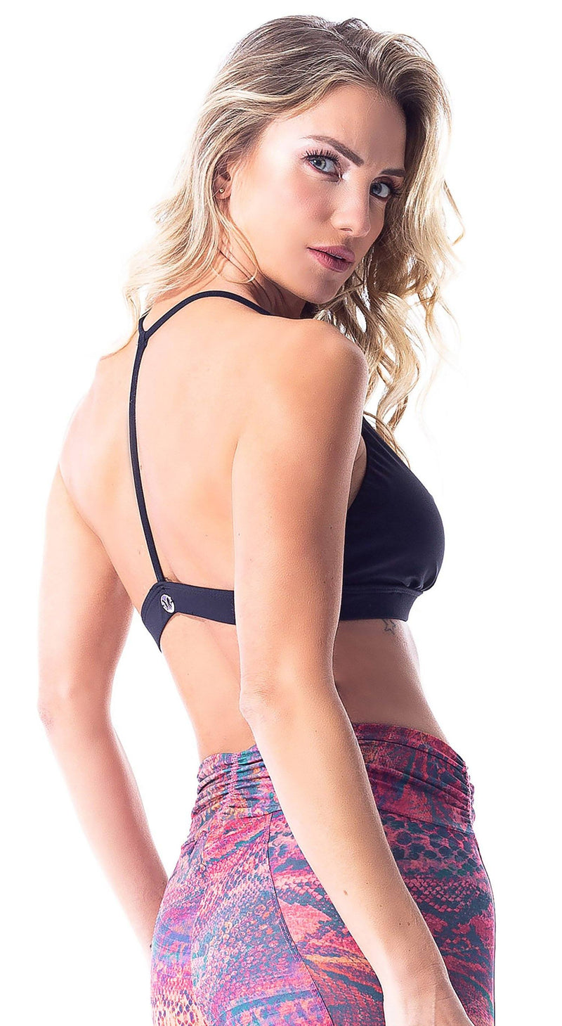 Sports Bra - Basic Stripes Black