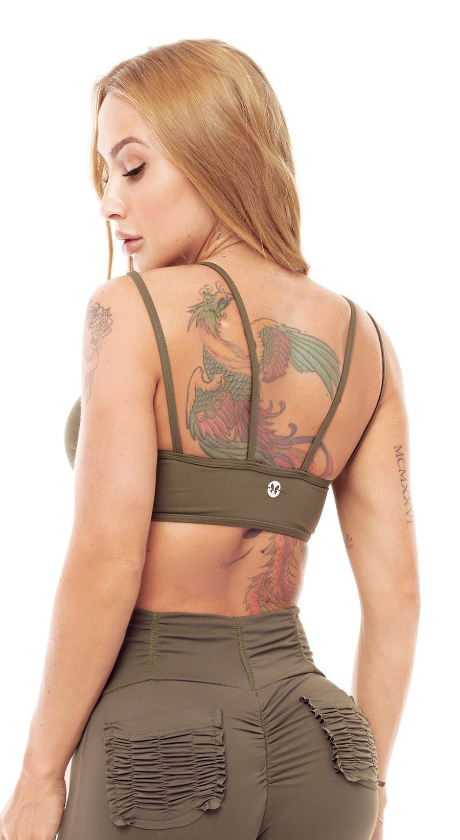 Sports Bra - Top Bra Audacity Army Green