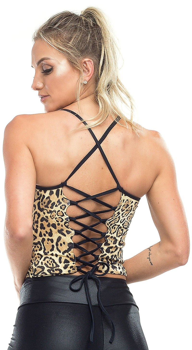 Sports Bra - Top Cropped Sexy Leopard Print