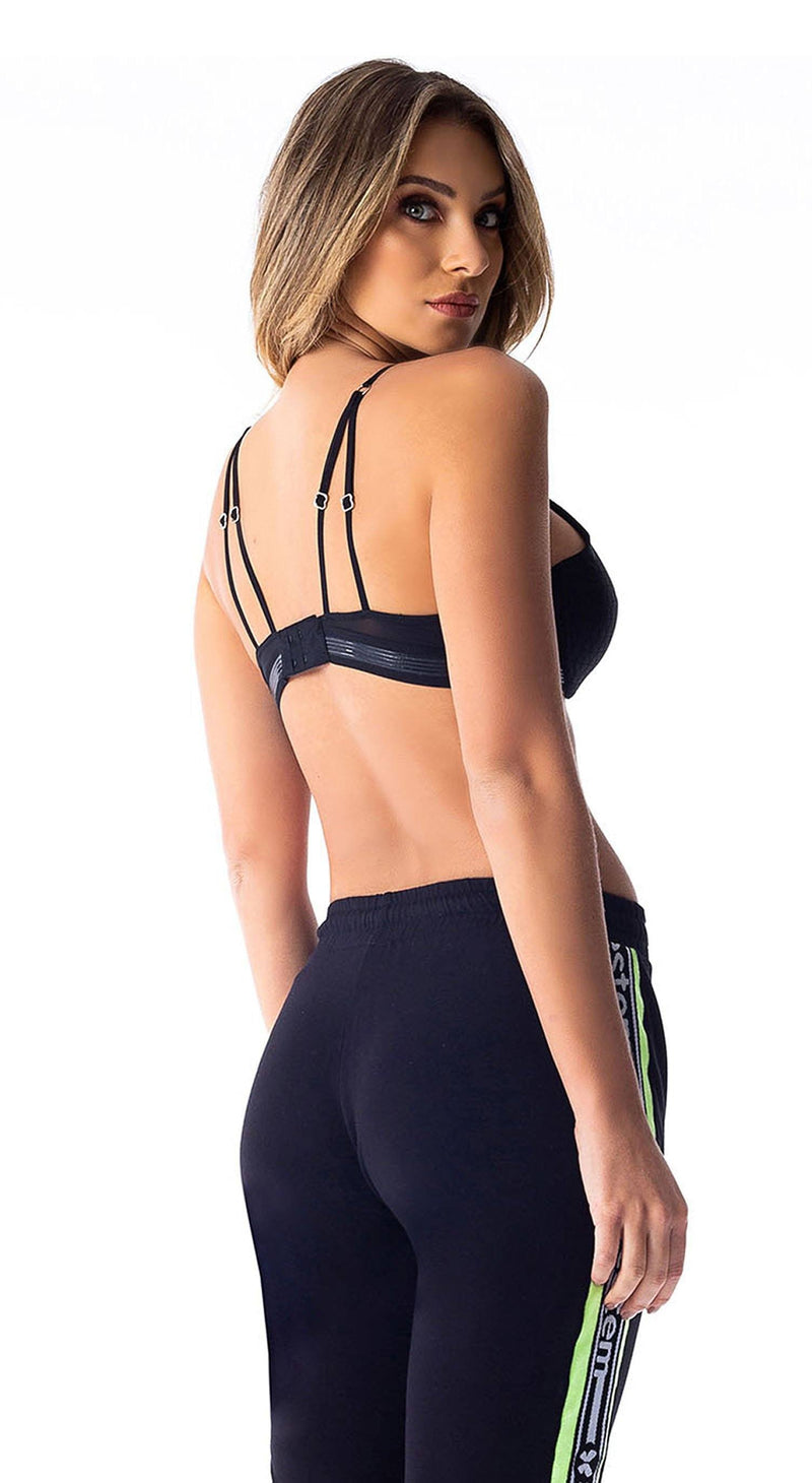 Sports Bra - New Jump Black Lycra
