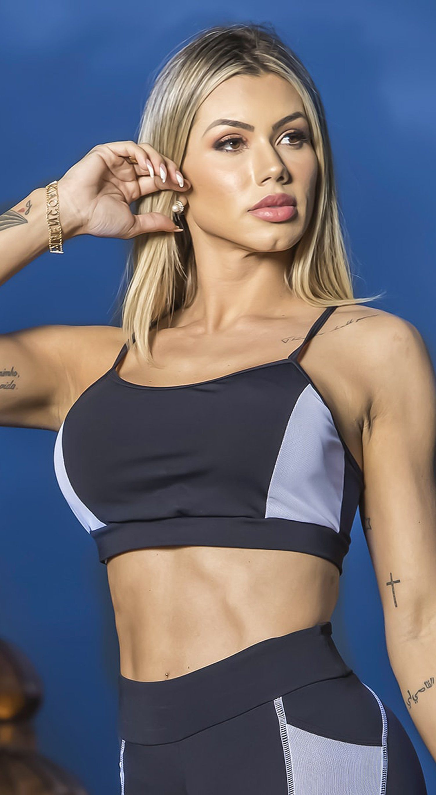 Brazilian Sports Bra - Top Emma Black & White