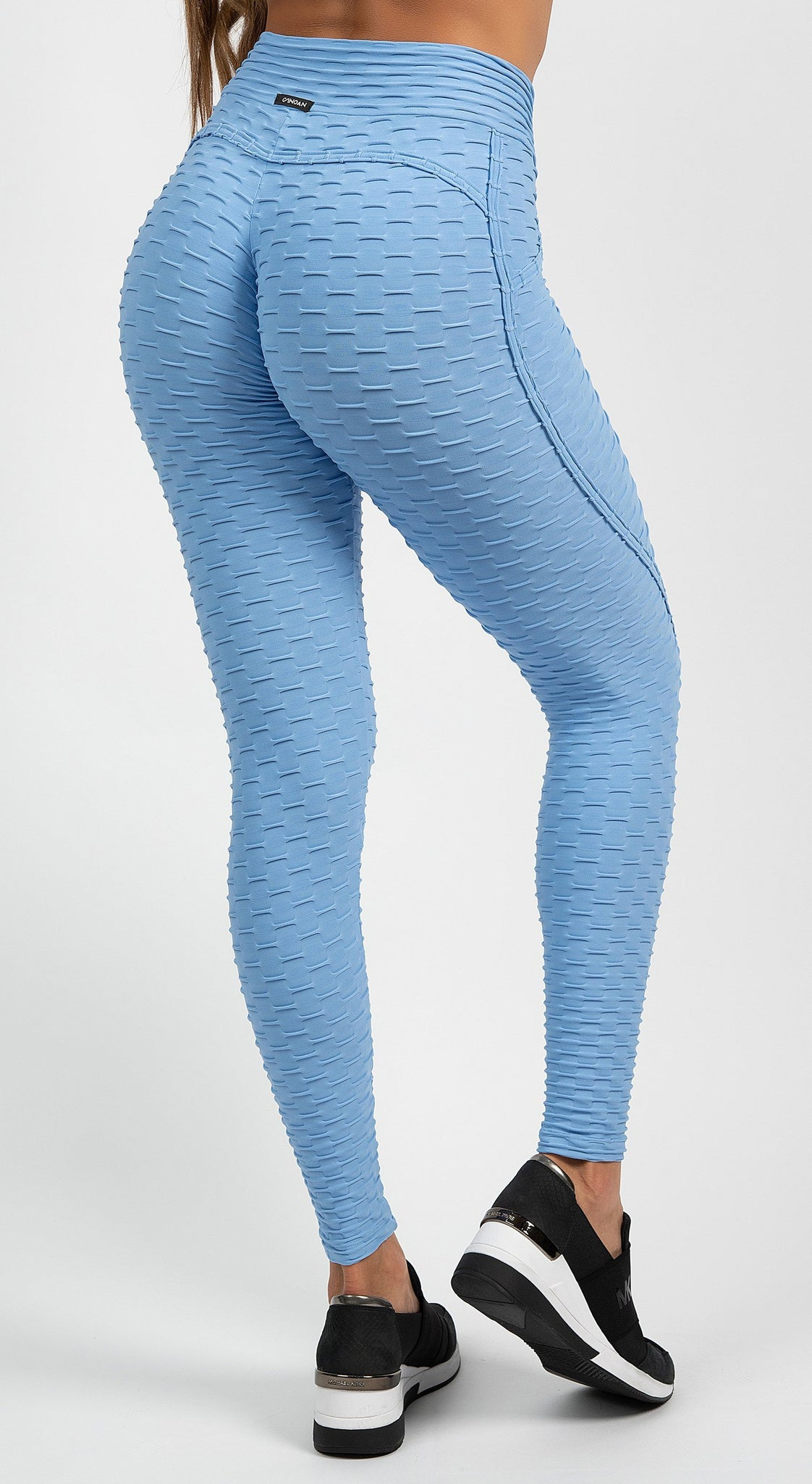 Anti Cellulite Textured Heart Booty Effect Baby Blue
