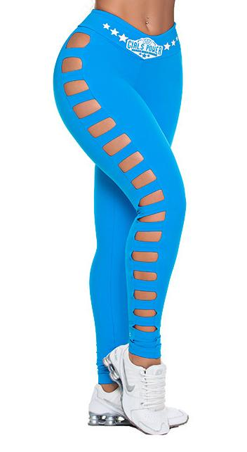 Workout Legging - Dunas Power Deep Sky Blue