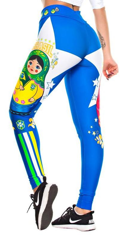 Brazilian Flag Legging - Brazil & Russia World Cup