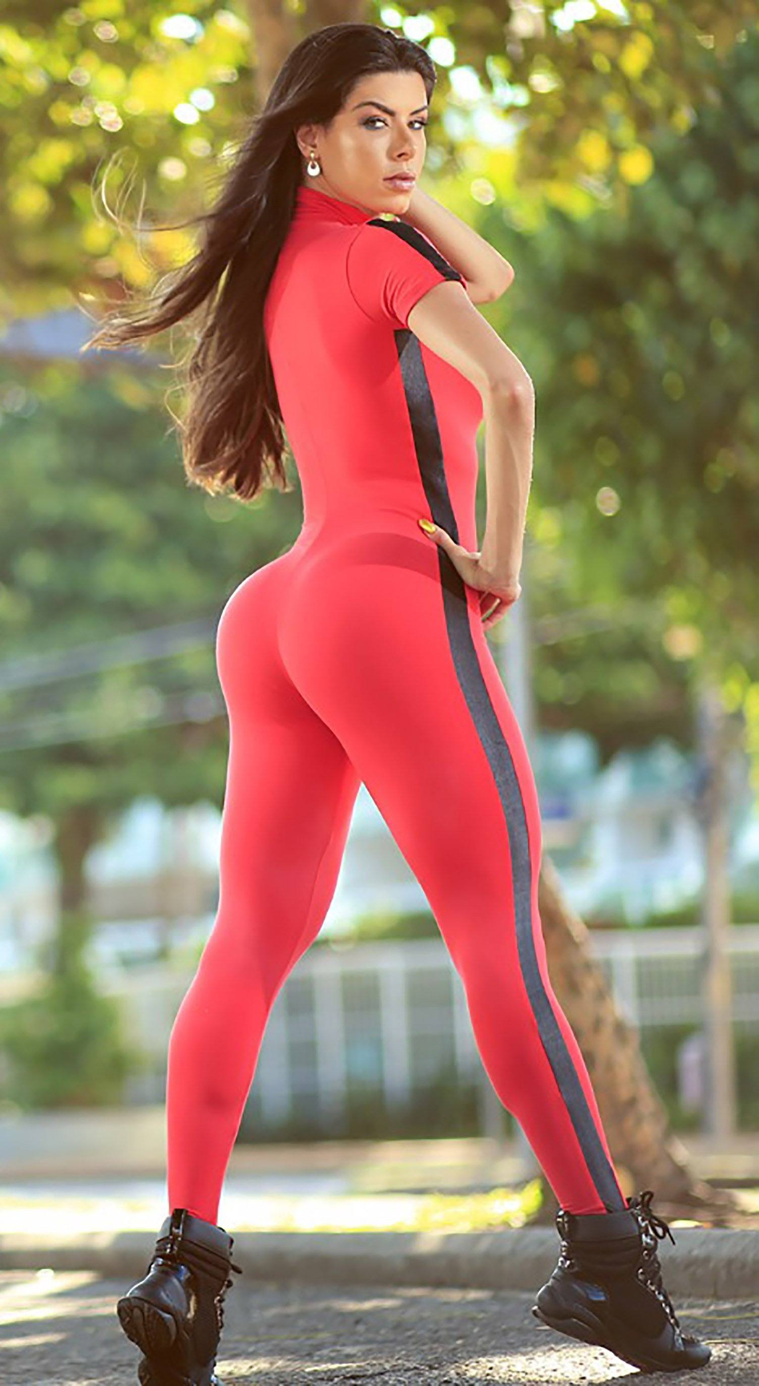 Brazilian Workout Jumpsuit - Sanguine Red