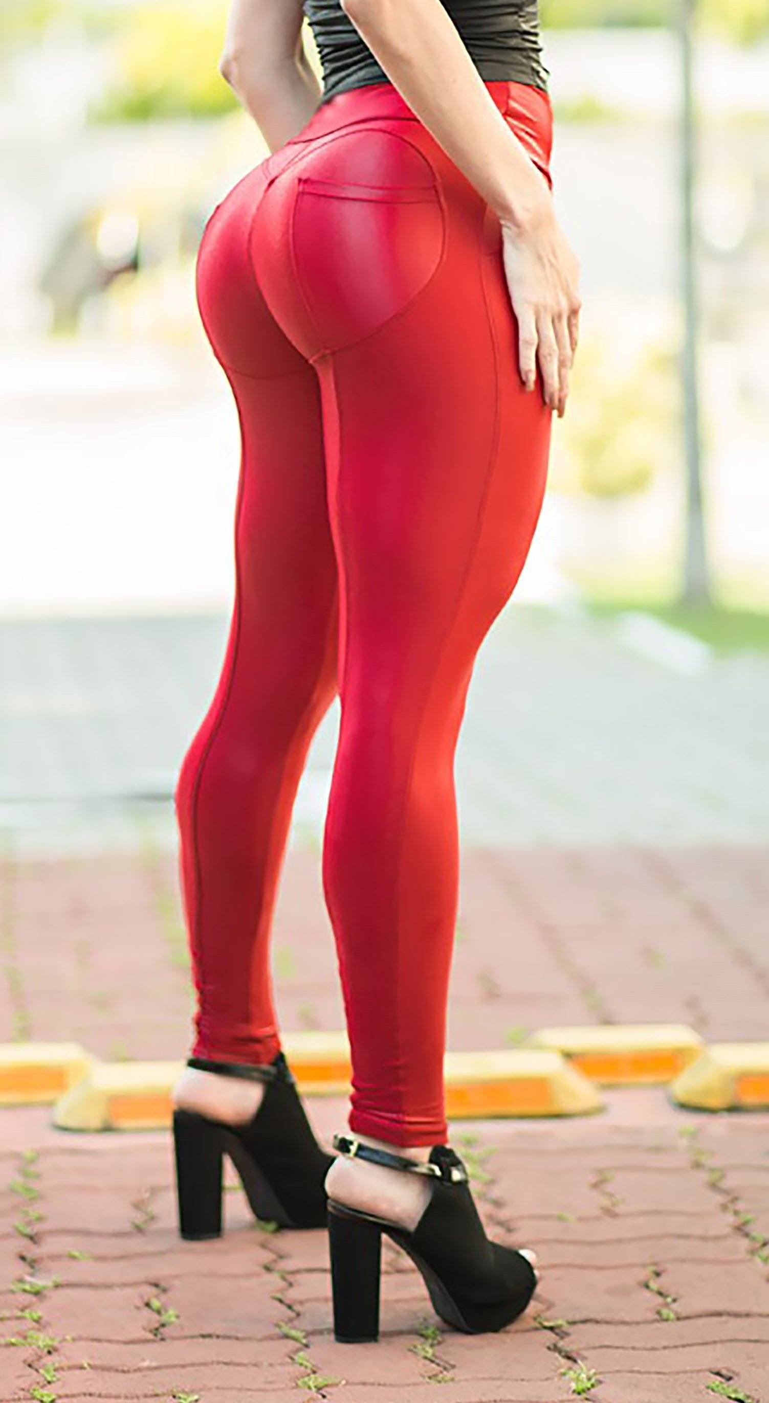 Brazilian Workout Legging - Push Up Wonder Red