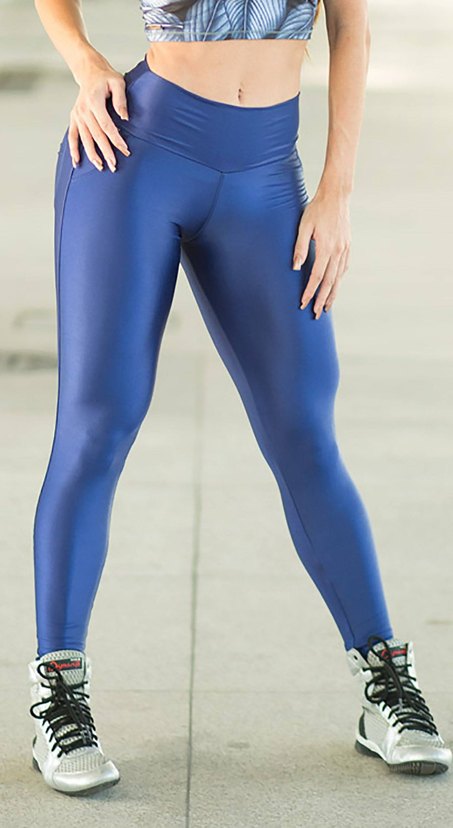 Brazilian Workout Legging - Push Up Blue Moon