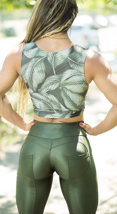 Brazilian Workout Legging - Push Up Crusher Green