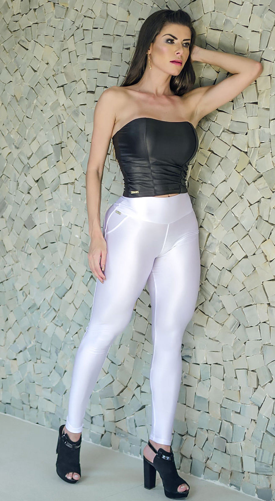 Brazilian Workout Legging - Push Up Shooting Star White