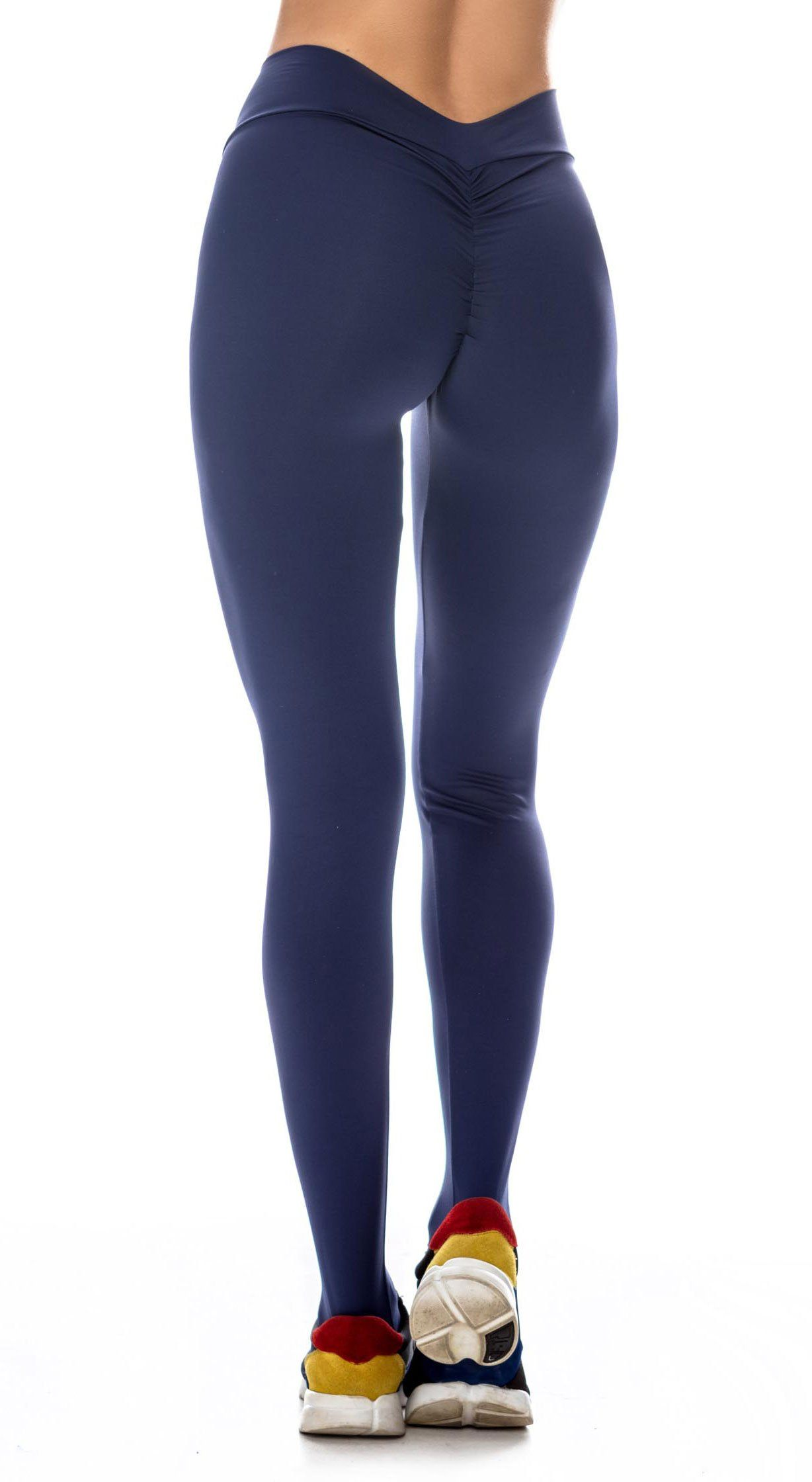 Brazilian Workout Legging - Scrunch Booty Lift! Compression Navy