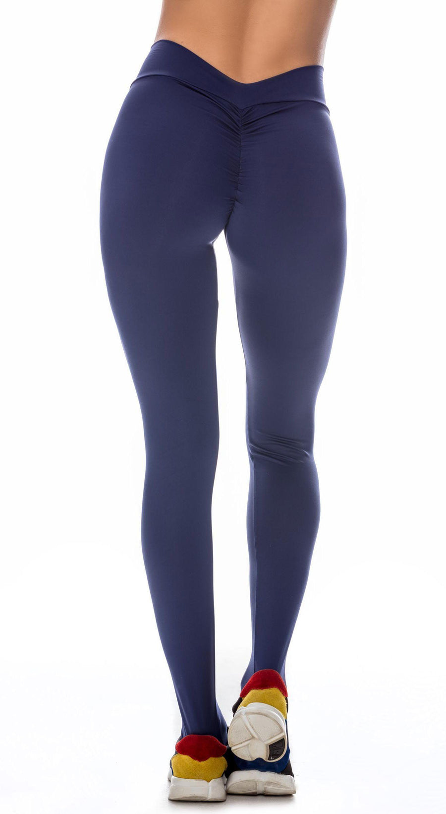 Brazilian Workout Legging - Scrunch Booty Lift! Navy