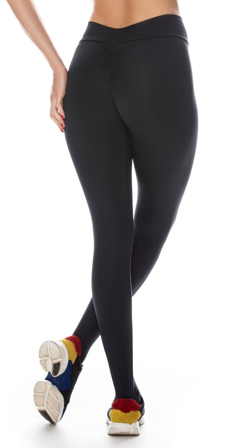 Brazilian Workout Legging - Scrunch Booty Lift! Compression Black