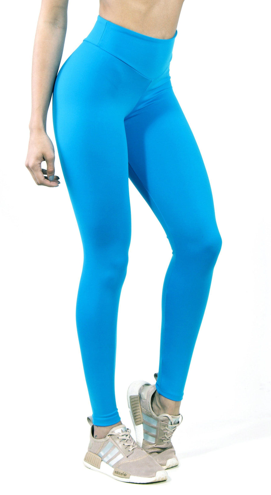 Brazilian Workout Legging -  High Waist Scrunch Booty Lift! Sky Blue
