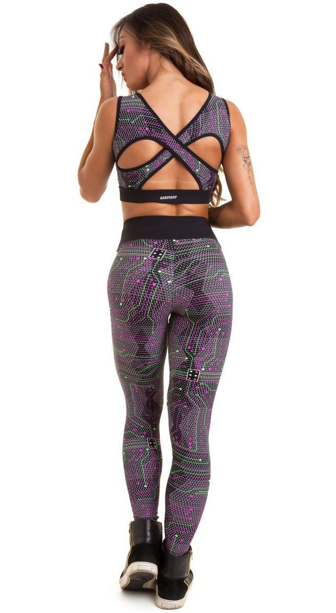 Brazilian Workout Set - Phosphorescent Neon Print