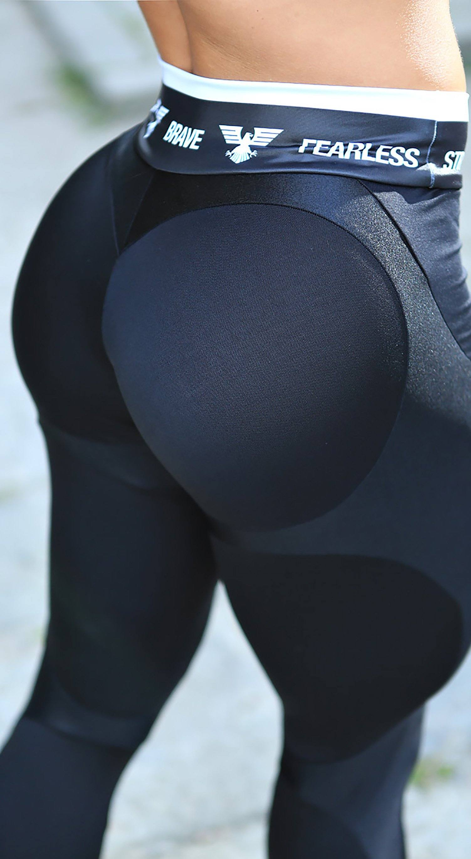 Brazilian Workout Legging - Apple Booty Black