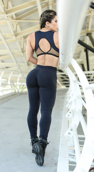 Brazilian Workout Legging - Black Diamond