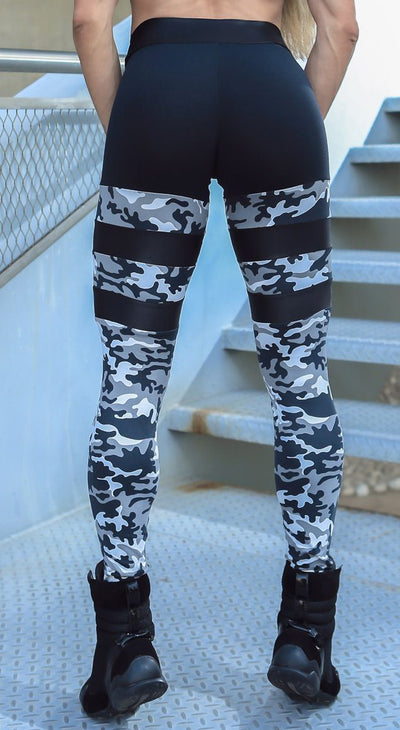 Brazilian Workout Legging - Stripped Socks Command