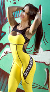 Brazilian Workout Jumpsuit  - Fitness Sunshine Yellow