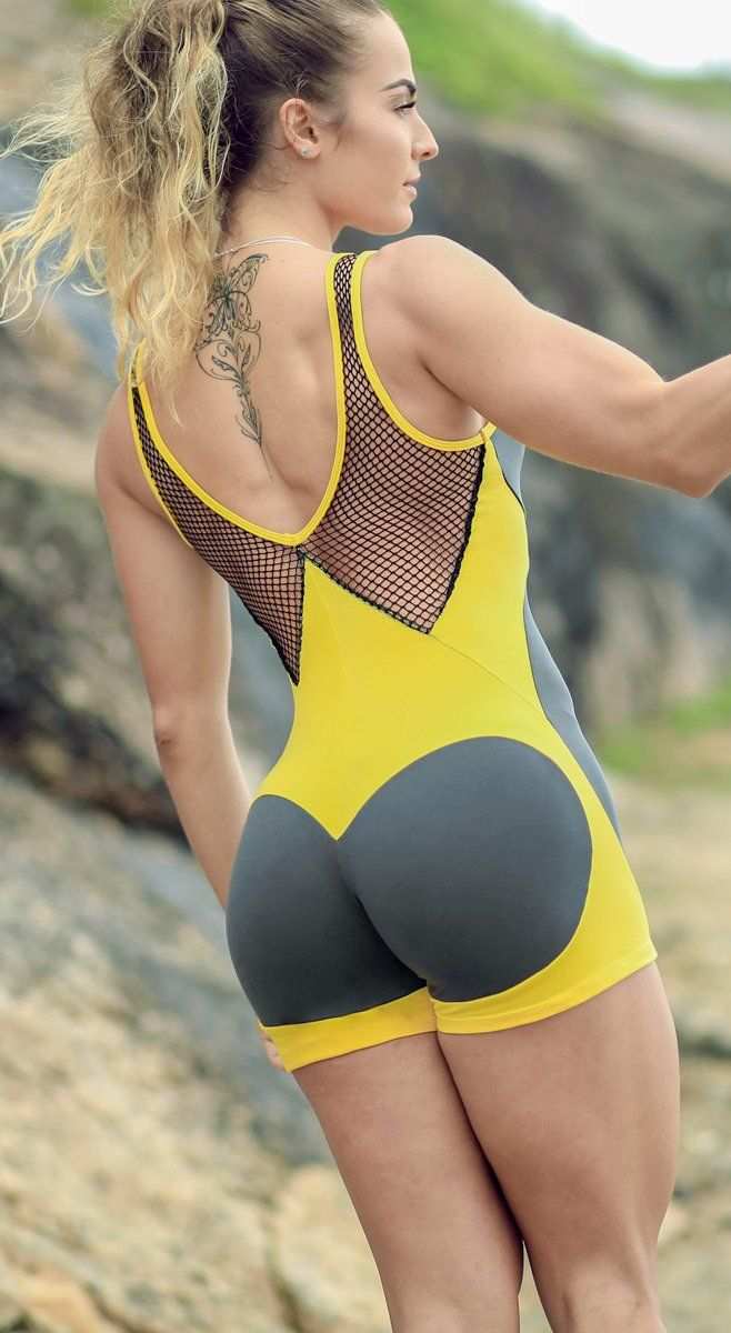Brazilian workout Jumpsuit  - Apple Booty Short Splendid