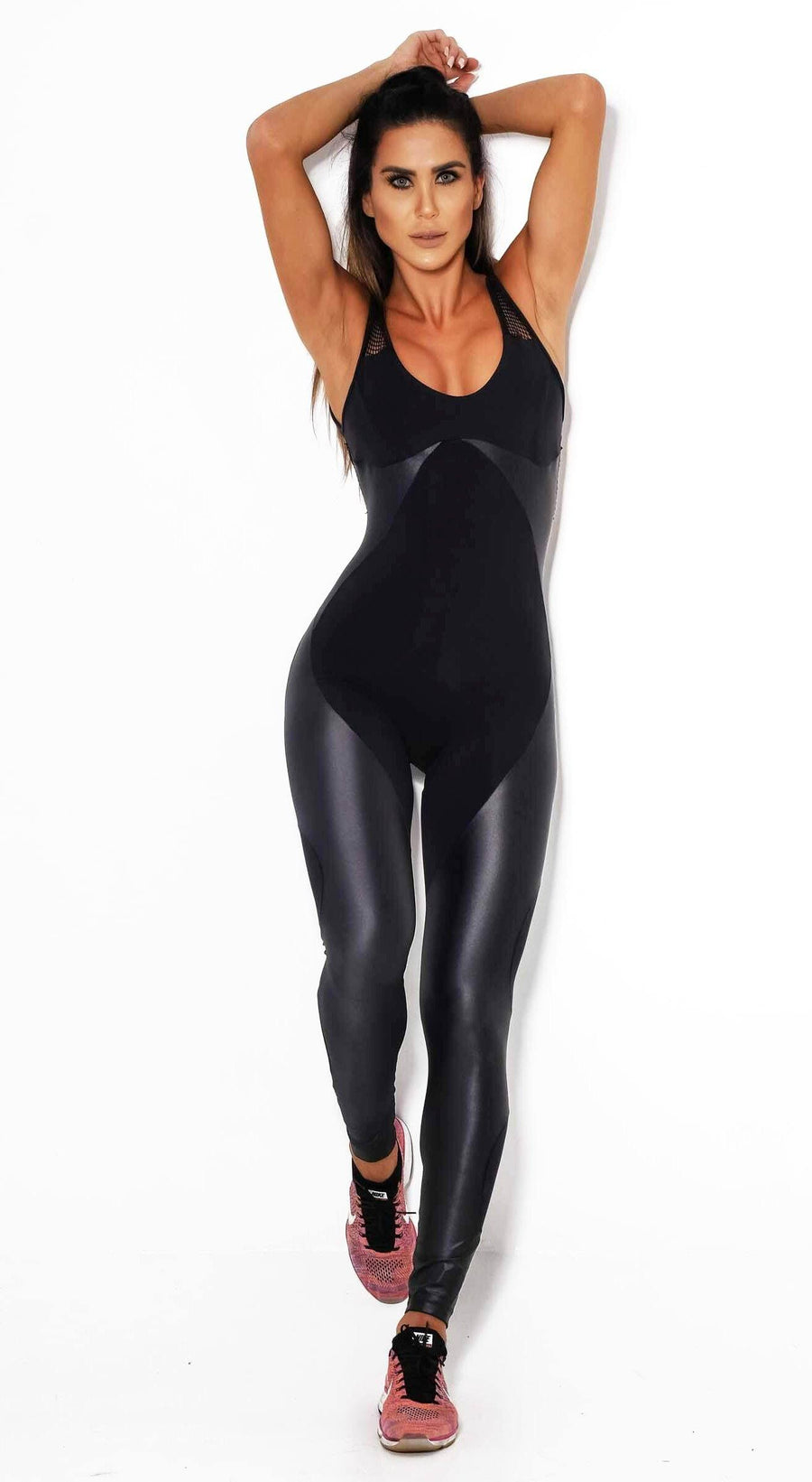 Brazilian Workout Jumpsuit - Midnight Storm Black