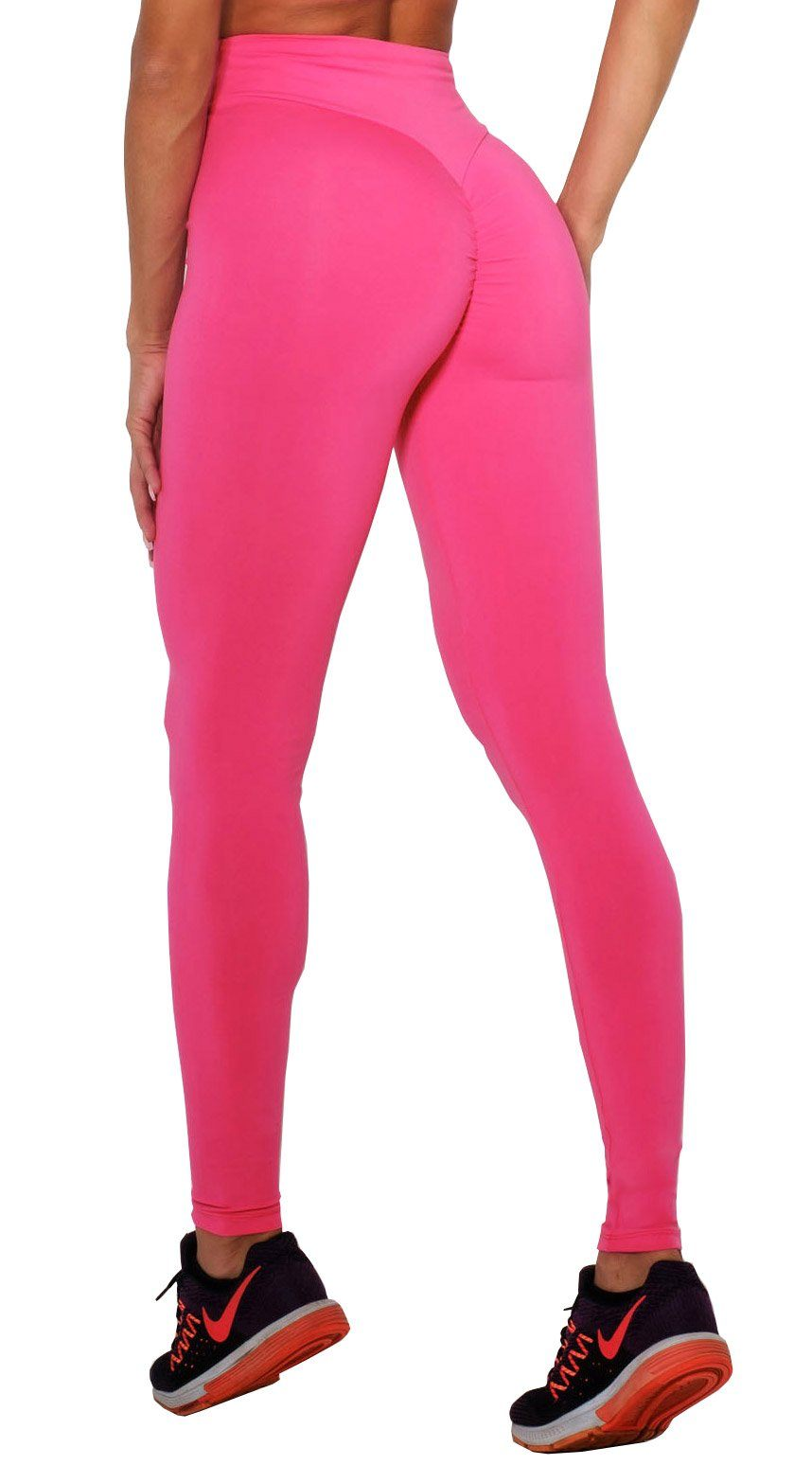 High Waist Scrunch Booty Lift Hot Pink Leggings