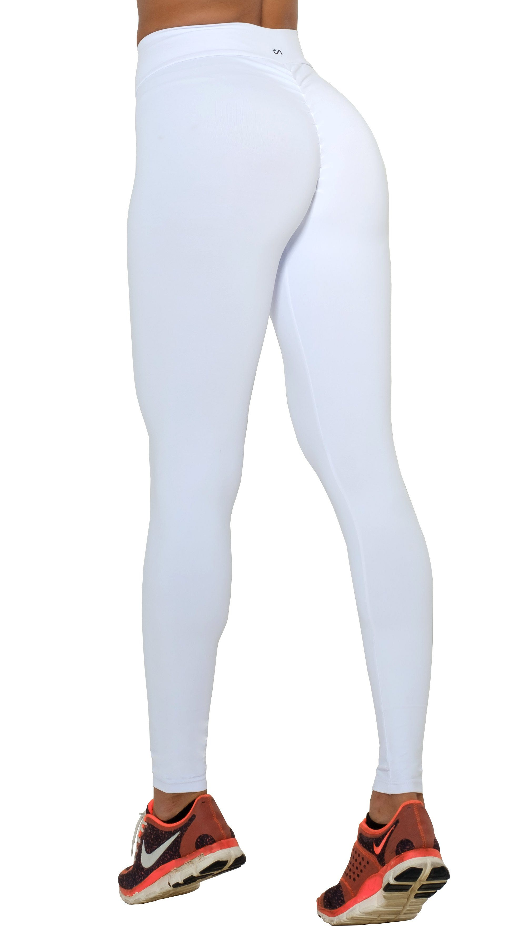 0fde2becd19662 Canoan - Brazilian Workout Legging - Scrunch Booty Lift! Compression White