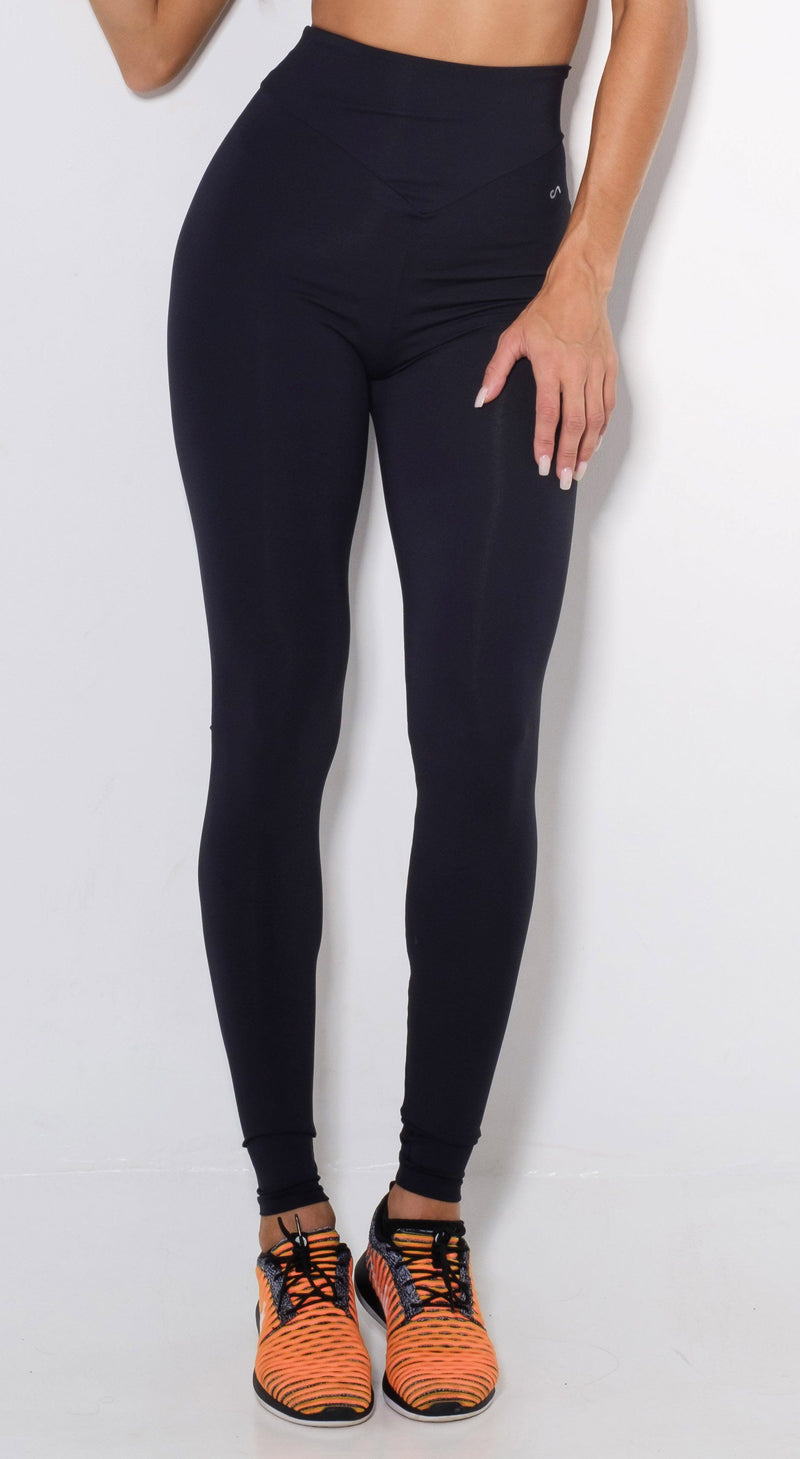 High Waist Scrunch Booty Lift Black Leggings