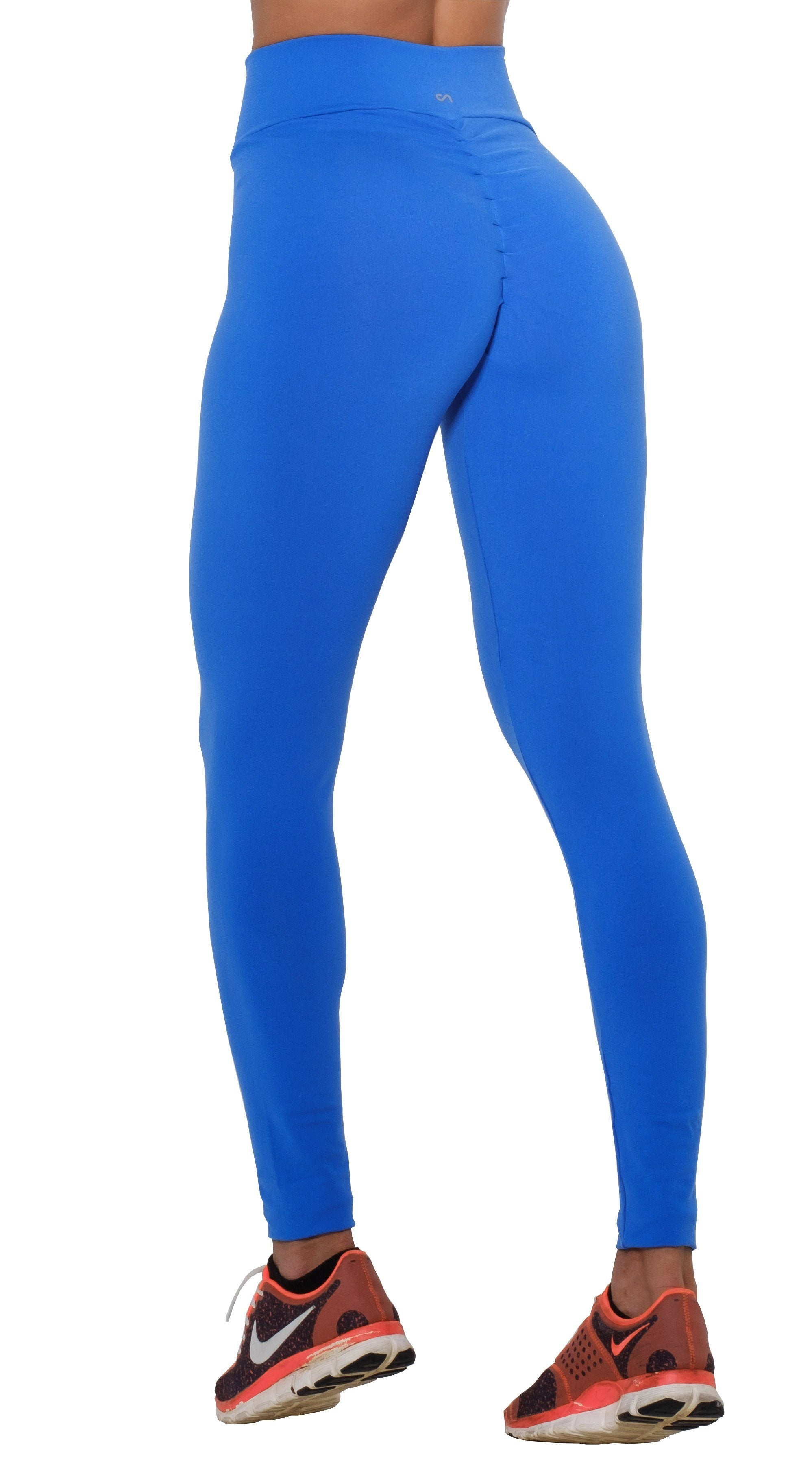 Brazilian Workout Legging - Scrunch Booty Lift! Royal Blue