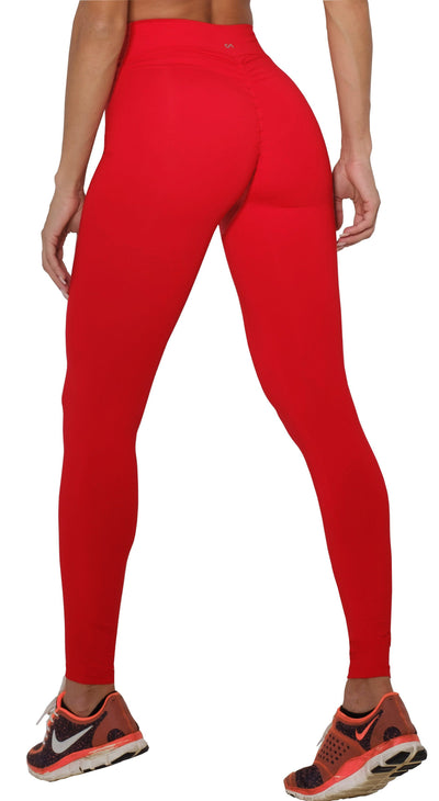 5407ecaba4971 Brazilian Workout Legging - Scrunch Booty Lift! Compression Hot Red ...