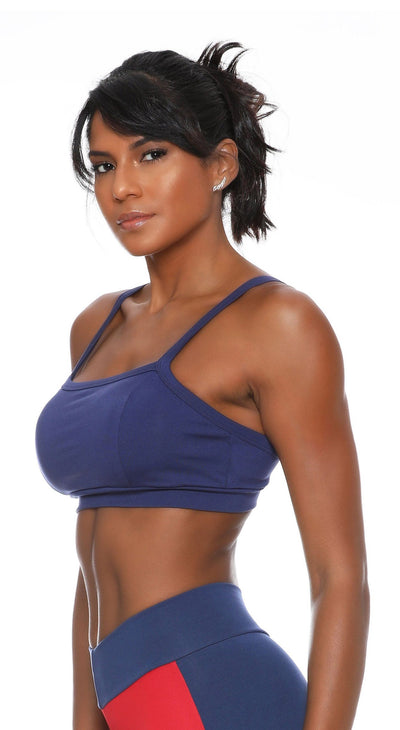 Brazilian Sports Bra - Top Clippi Navy or Black