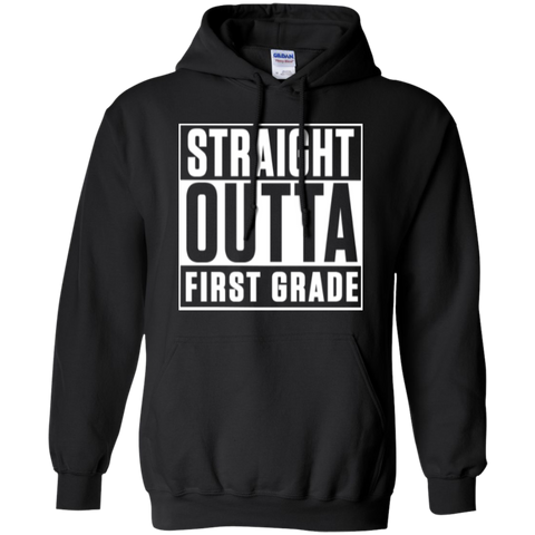 Straight Outta First Grade  Hoodie 8 oz - TeachersLoungeShop - 1