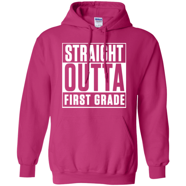 Straight Outta First Grade  Hoodie 8 oz - TeachersLoungeShop - 2