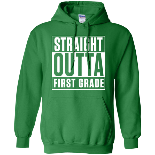 Straight Outta First Grade  Hoodie 8 oz - TeachersLoungeShop - 3