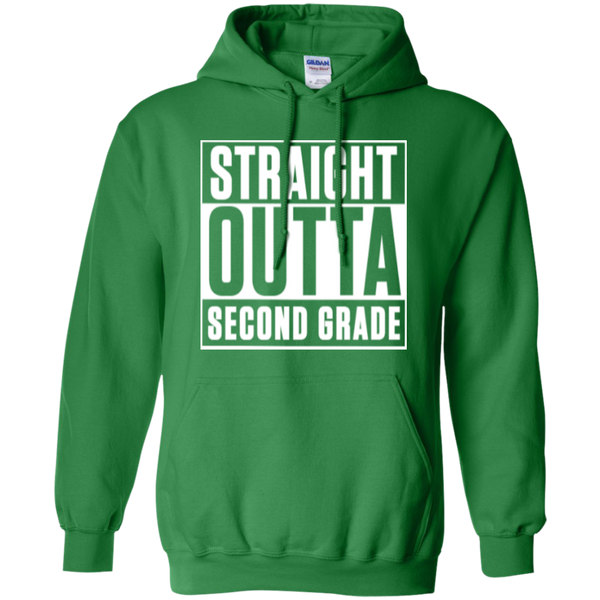 Straight Outta Second Grade Hoodie - TeachersLoungeShop - 4
