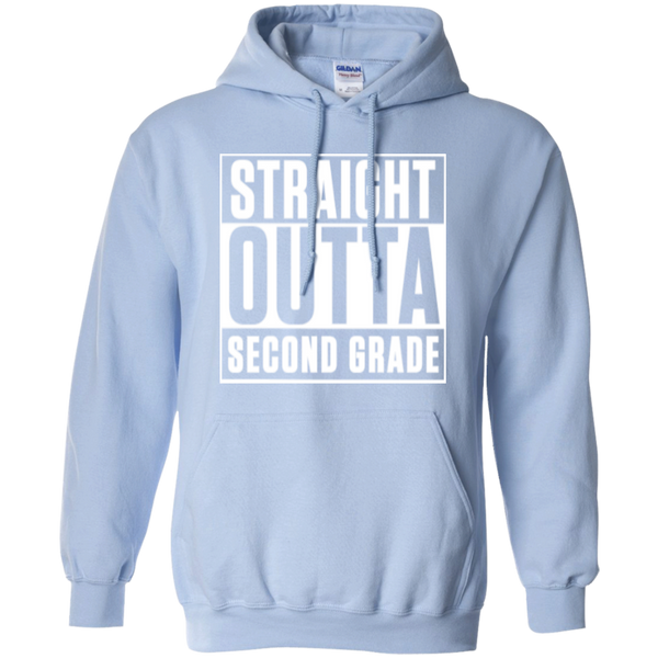 Straight Outta Second Grade Hoodie - TeachersLoungeShop - 5