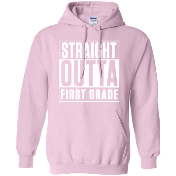 Straight Outta First Grade  Hoodie 8 oz - TeachersLoungeShop - 4