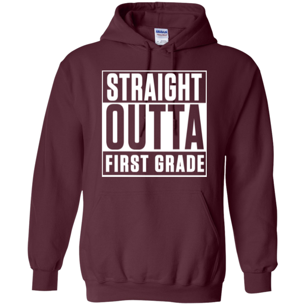 Straight Outta First Grade  Hoodie 8 oz - TeachersLoungeShop - 5