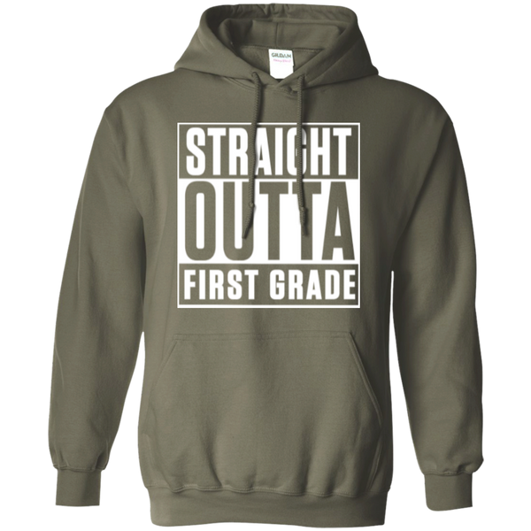 Straight Outta First Grade  Hoodie 8 oz - TeachersLoungeShop - 6