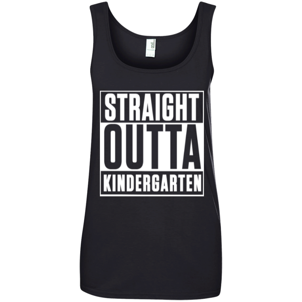 Straight Outta Kindergarten   100% Ringspun Cotton Tank Top - TeachersLoungeShop - 1