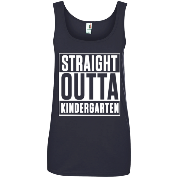 Straight Outta Kindergarten   100% Ringspun Cotton Tank Top - TeachersLoungeShop - 4